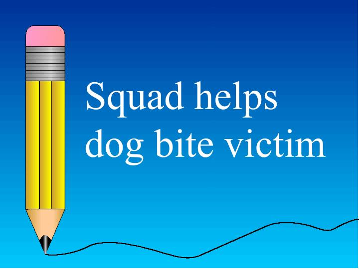 Squad helps dog bite victim