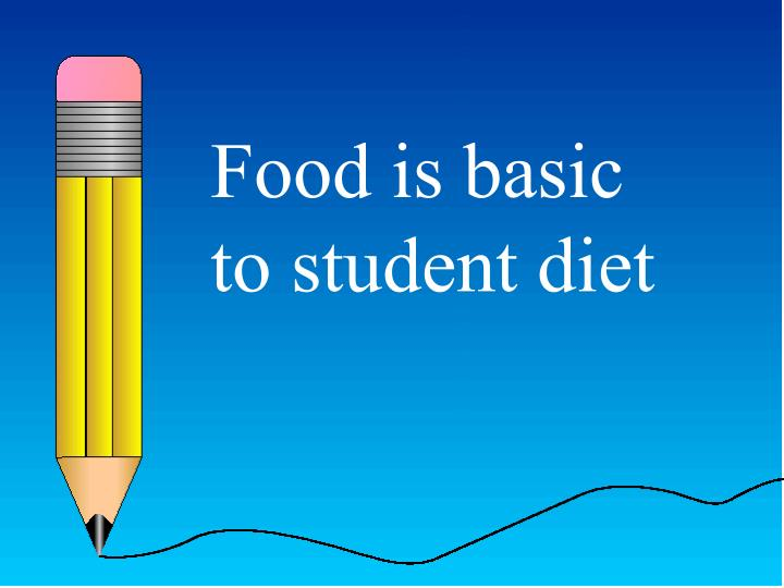 Food is basic to student diet