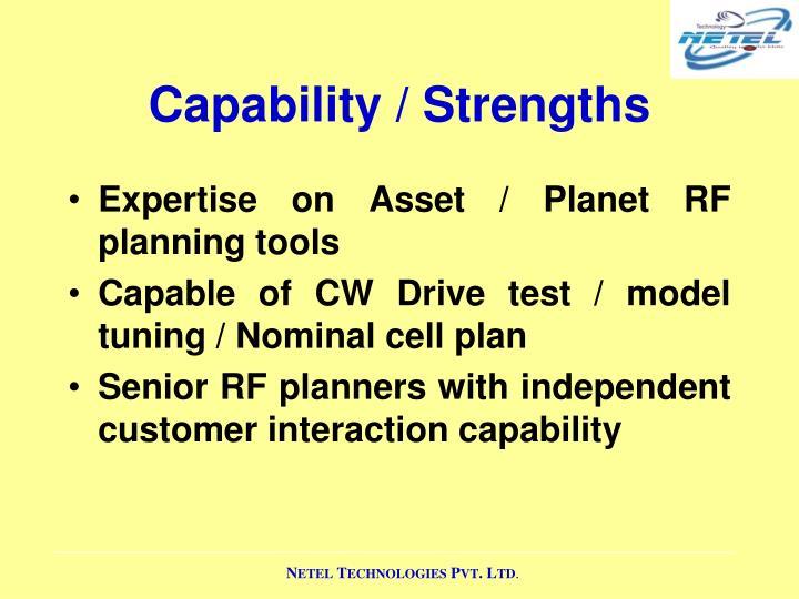 Capability / Strengths
