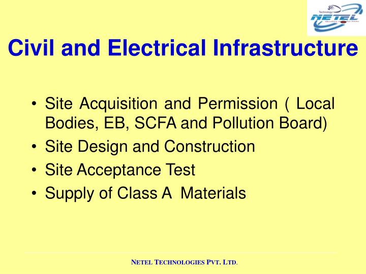Civil and Electrical Infrastructure
