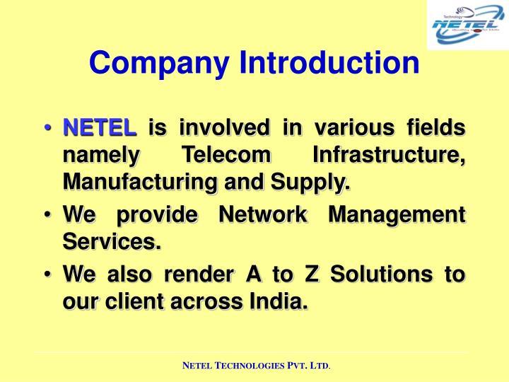 Company introduction