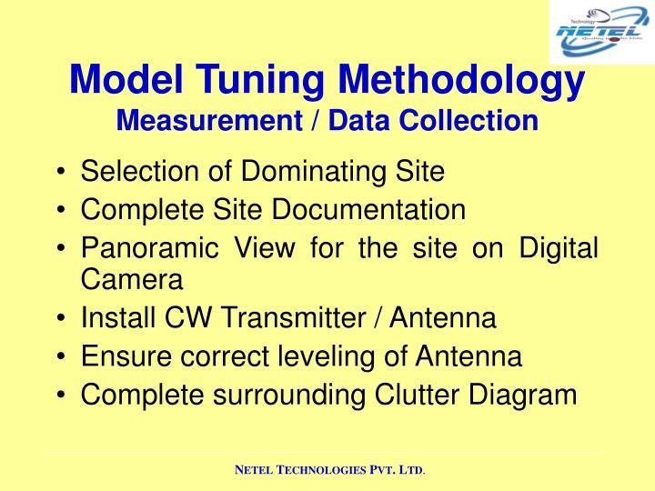 Model Tuning Methodology