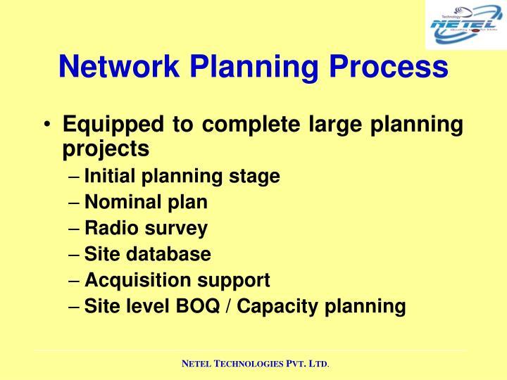 Network Planning Process
