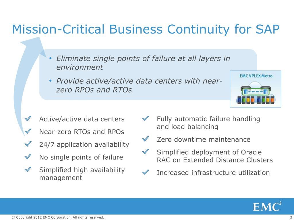 PPT - EMC MISSION-CRITICAL BUSINESS CONTINUITY FOR SAP PowerPoint