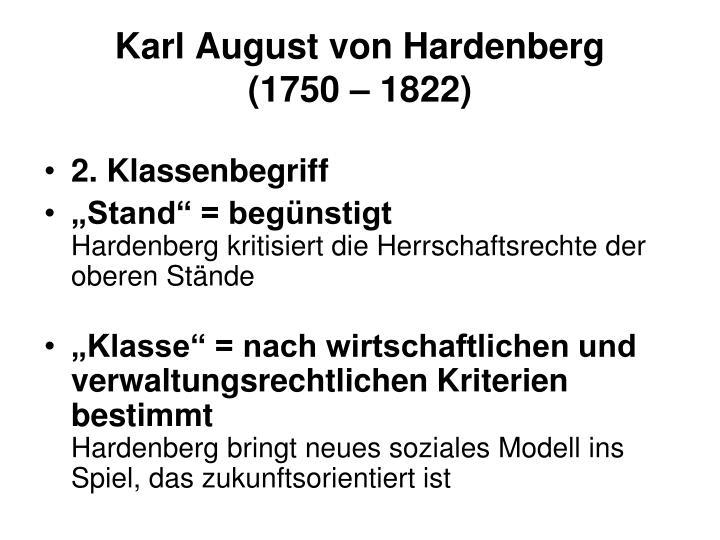 Karl August von Hardenberg