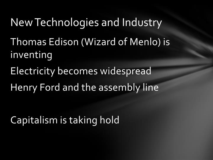 New technologies and industry