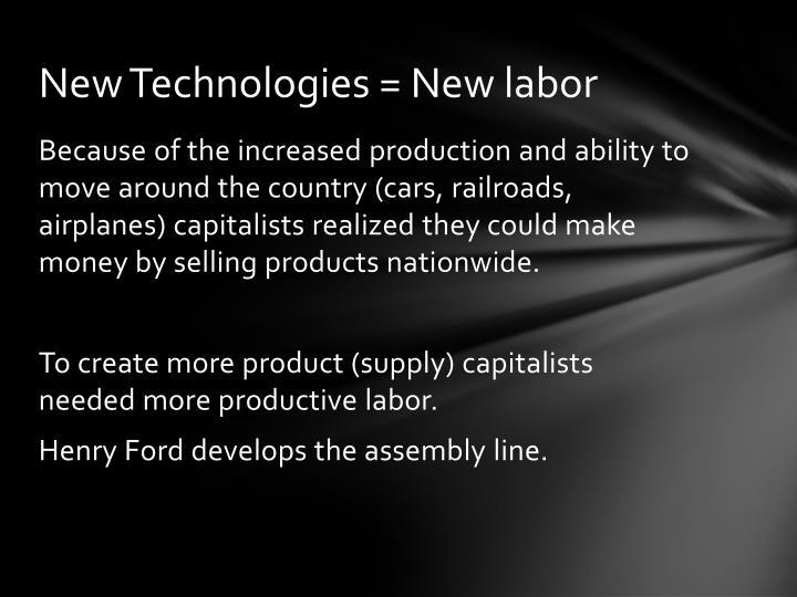 New Technologies = New labor