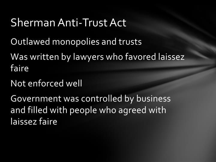 Sherman Anti-Trust