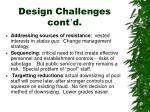 design challenges cont d