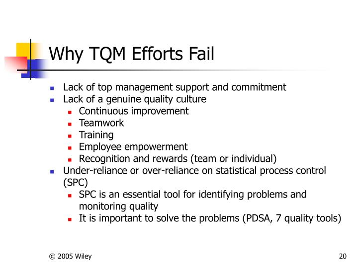 why tqm is important