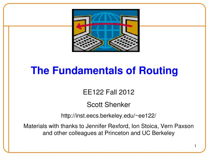 the fundamentals of routing n.