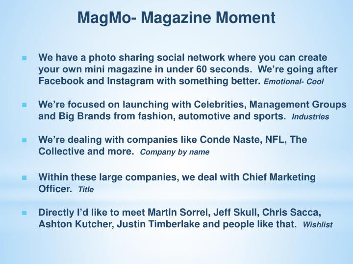 MagMo- Magazine Moment