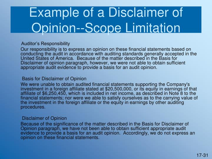 an opinion paragraph example