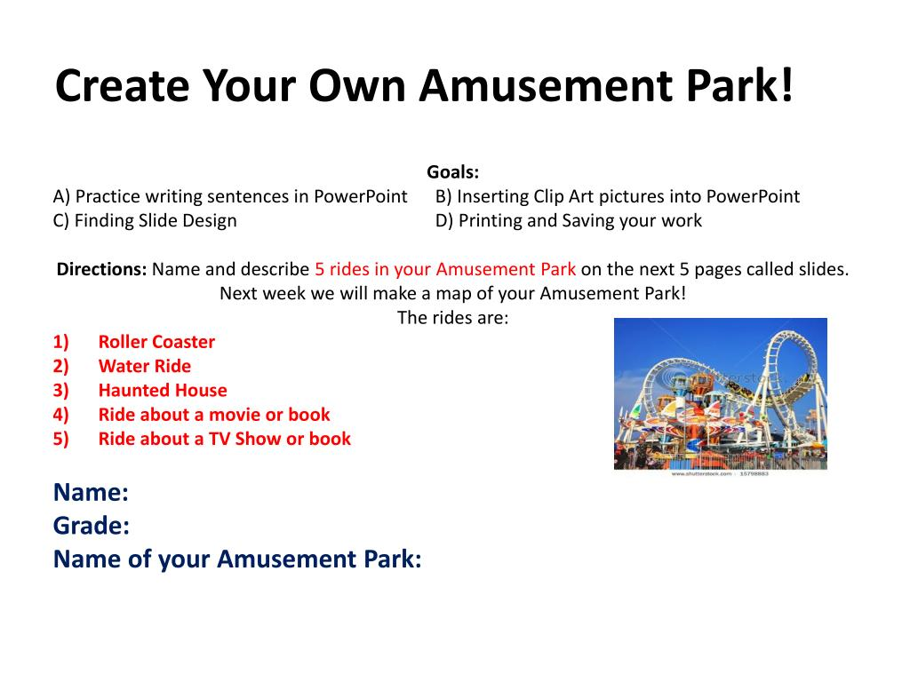 ppt create your own amusement park powerpoint presentation id