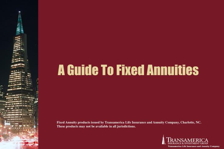 A guide to fixed annuities