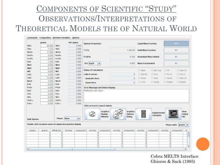 "Components of Scientific ""Study"""