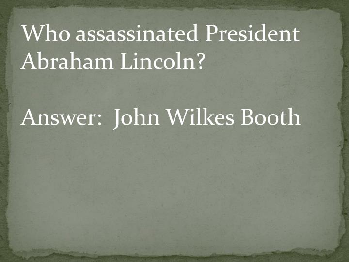 Who assassinated