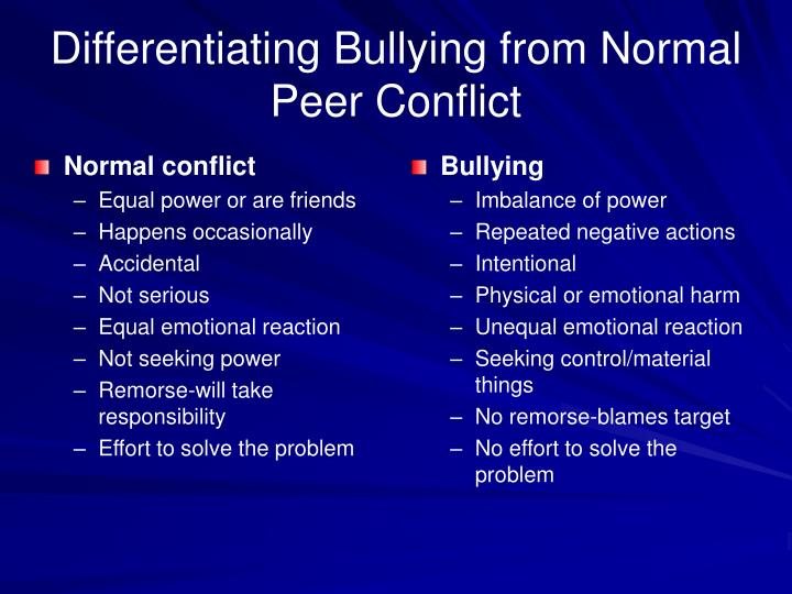 conflict issue paper bullying Cool kids can curb bullying, study finds more educating a school's most popular students about bullying can have a significant impact on its conflict rates getty images.