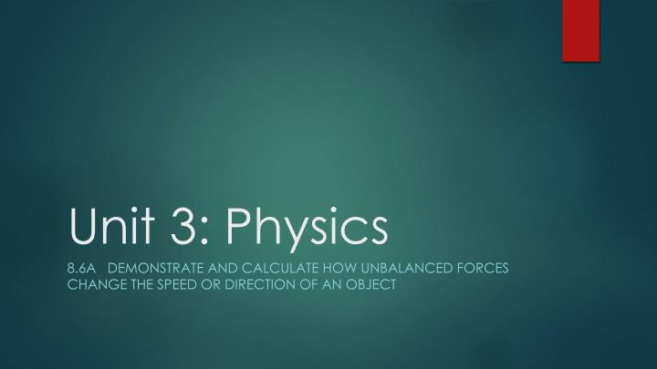 unit 3 physics