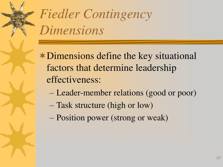 Fiedler Contingency Dimensions