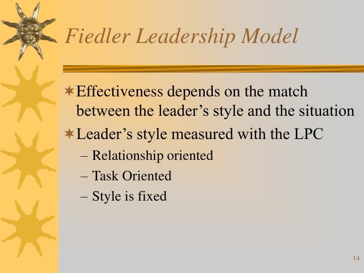 Fiedler Leadership Model