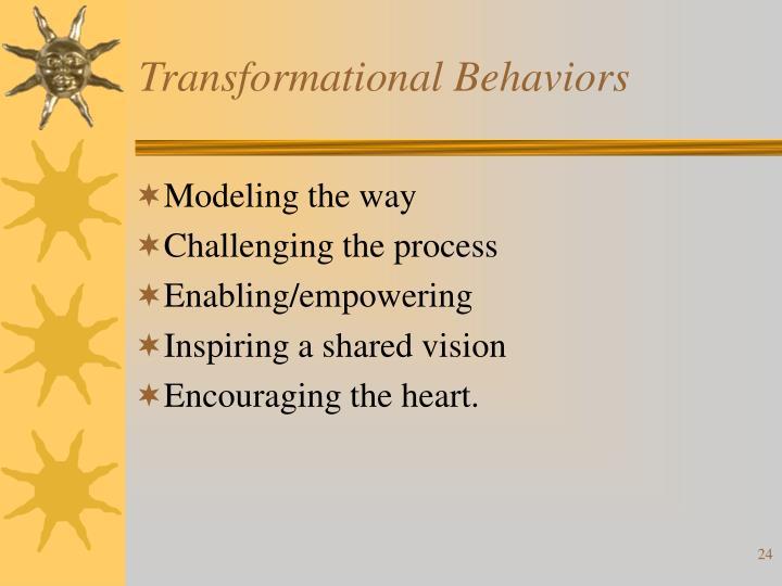 Transformational Behaviors