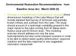 environmental restoration recommendations from baseline revue doc march 2008 ii
