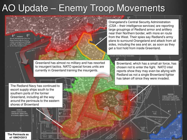 AO Update – Enemy Troop Movements