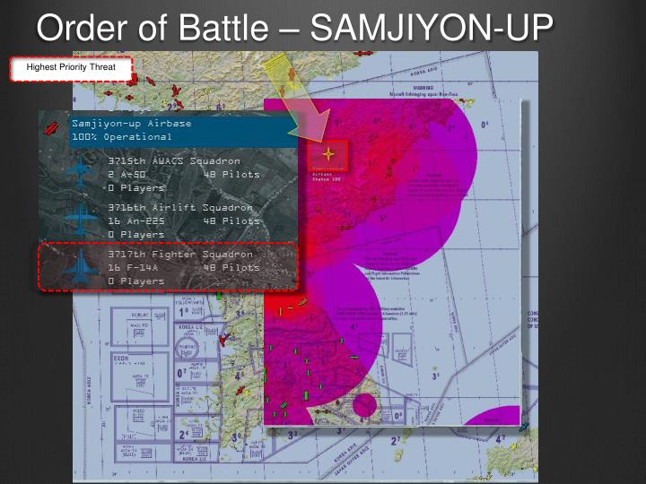 Order of Battle – SAMJIYON-UP