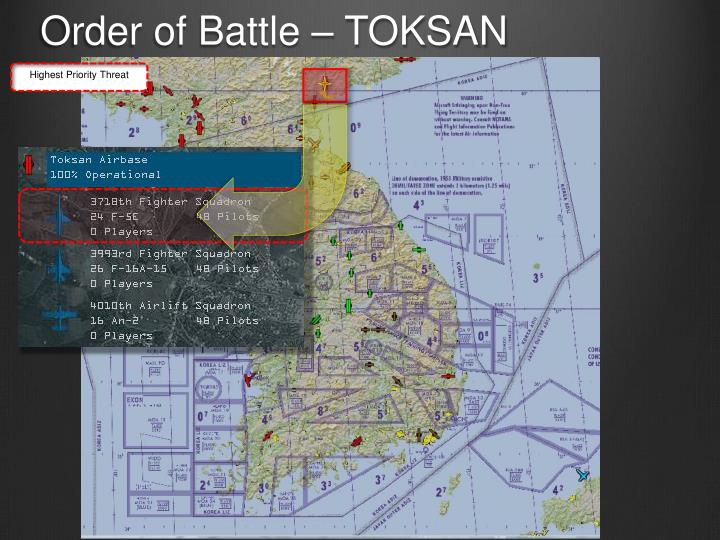Order of Battle – TOKSAN