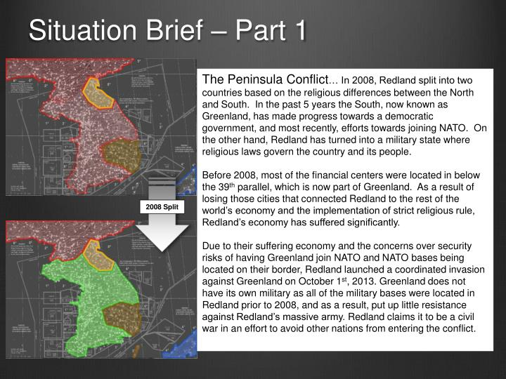 Situation brief part 1