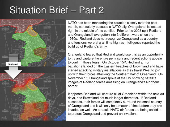 Situation Brief – Part 2