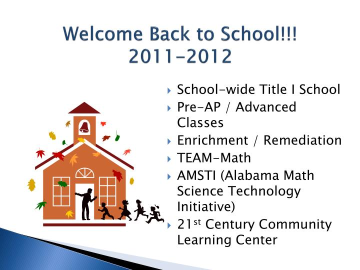 welcome back to school 2011 2012 n.