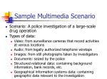 sample multimedia scenario