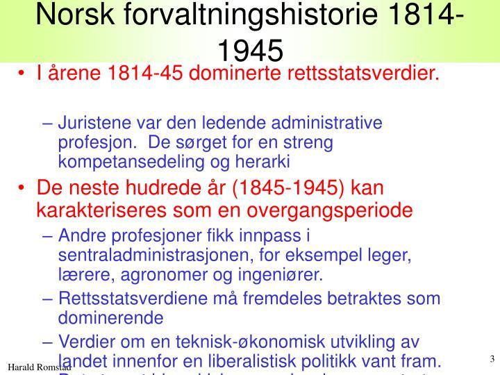 Norsk forvaltningshistorie 1814 1945