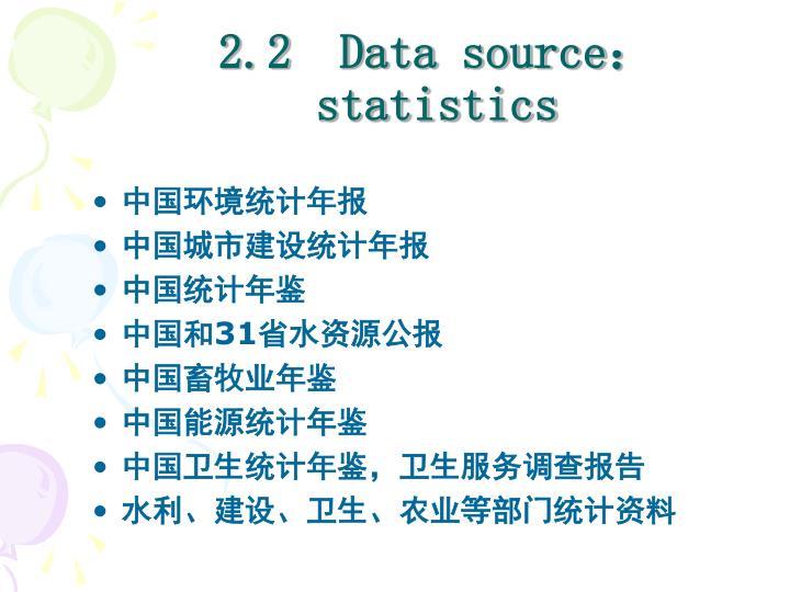 2.2  Data source