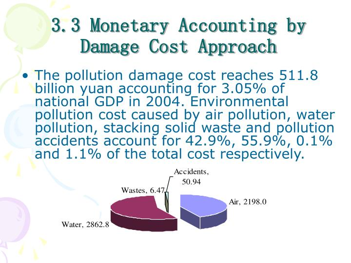 3.3 Monetary Accounting by Damage Cost Approach