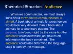 rhetorical situation audience