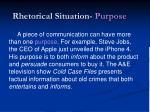 rhetorical situation purpose1