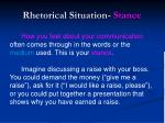 rhetorical situation stance
