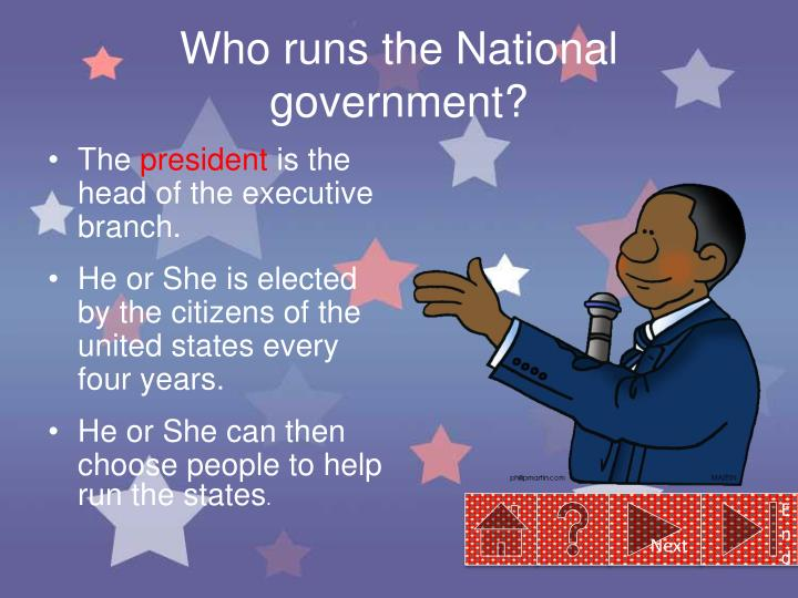 Who runs the National government?