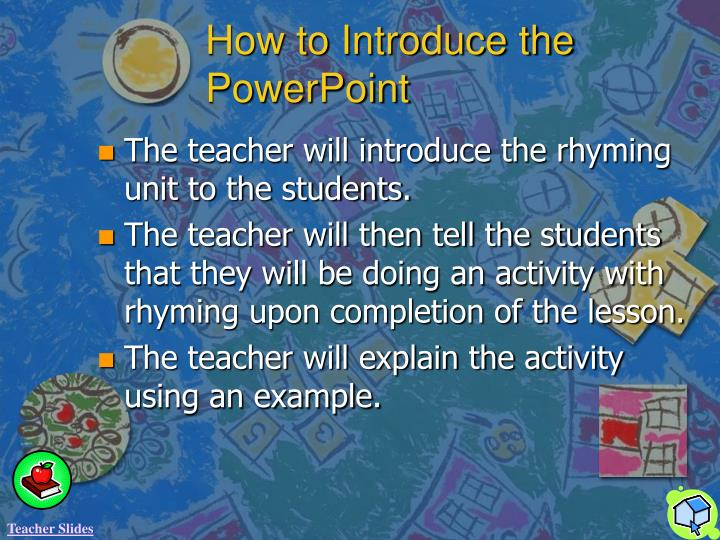 How to Introduce the PowerPoint