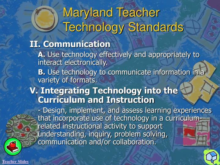 Maryland Teacher Technology Standards