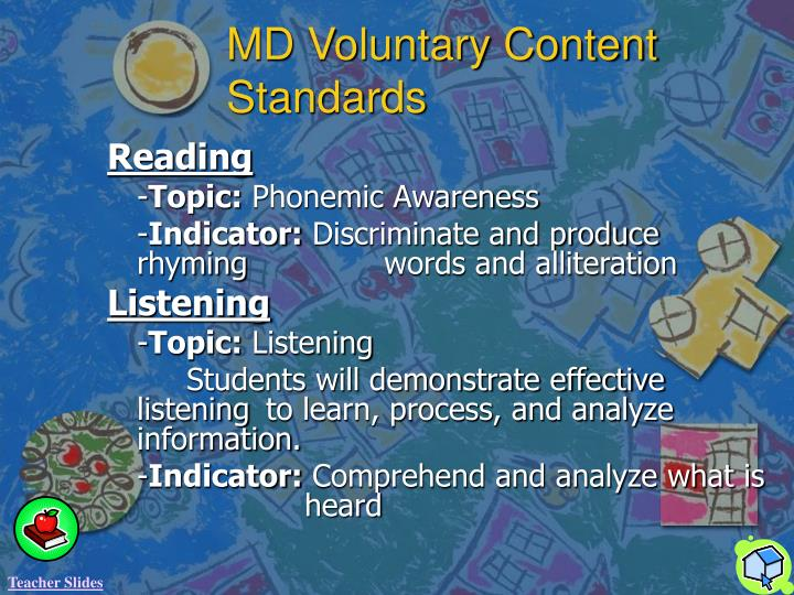 MD Voluntary Content Standards