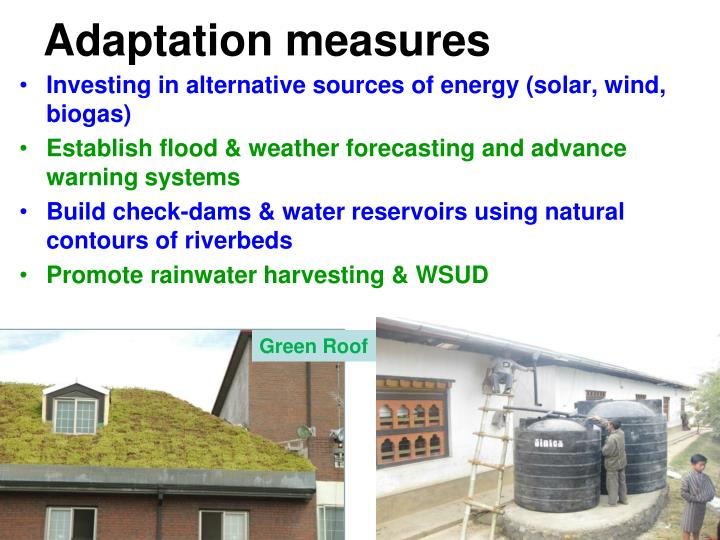 Adaptation measures