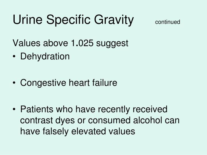 Urine Specific Gravity