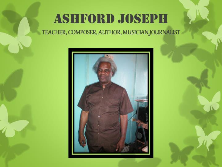 Ashford joseph teacher composer author musician journalist