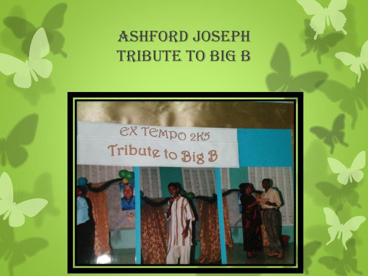 ASHFORD JOSEPH