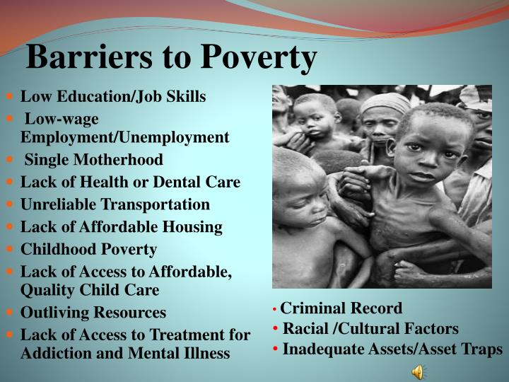 Barriers to Poverty