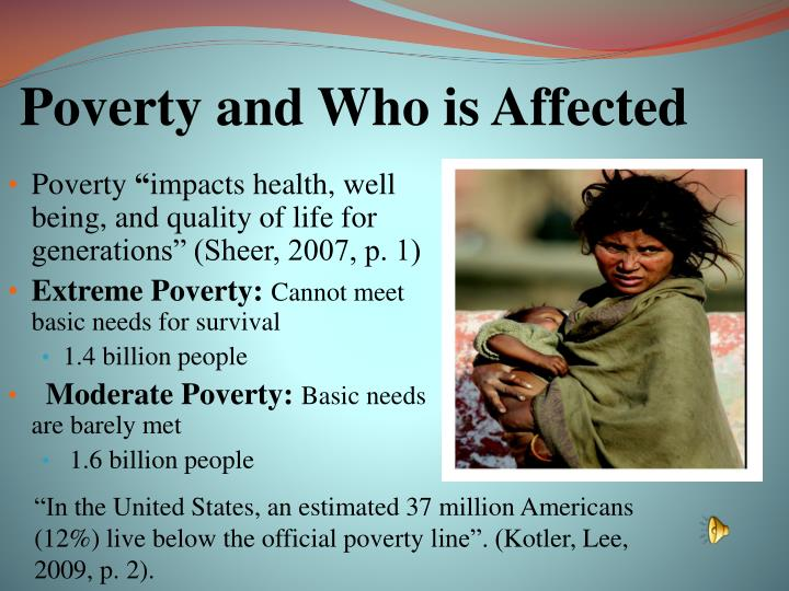 Poverty and who is affected
